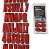 Hardline Factory Matched Number Kit -Red/Black REBLK320