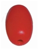Kwik Tek Oval Plastic Float Red F5R