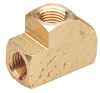 "Tempo 200050 Brass Tee 1/4"" Female Thread"