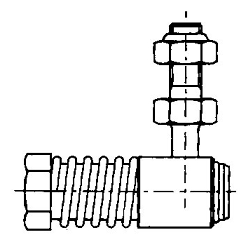 Uflex Stainless Steel Control Cable Ball Joint L7 10-32 UNF