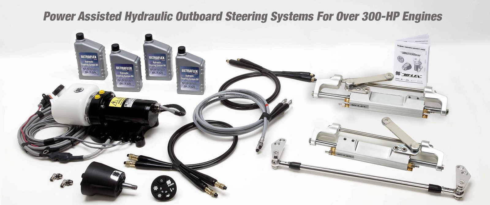 Power Assisted Outboard Hydraulic Steering Systems Over 300 HP Engines