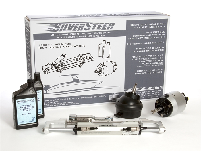 SilverSteer 2 0T With Tilt Helm Hydraulic Outboard Steering Package