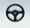 Ultraflex V45B 37920 H 3-Spoke Black Steering Wheel