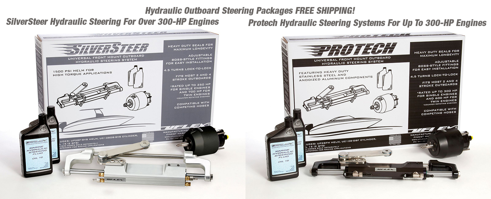 SilverSteer And Protech-1 Hydraulic Steering Systems