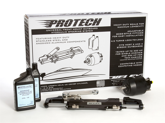Protech 1  Front Mount Outboard Hydraulic Steering Package
