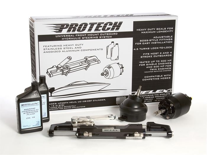 Protech 2T With Tilt Helm Outboard Hydraulic Steering Package