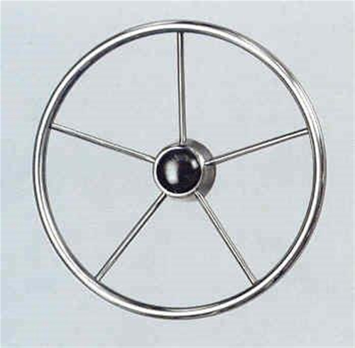 "V42 Steering Wheel Stainless Steel 15.5"" Dia"